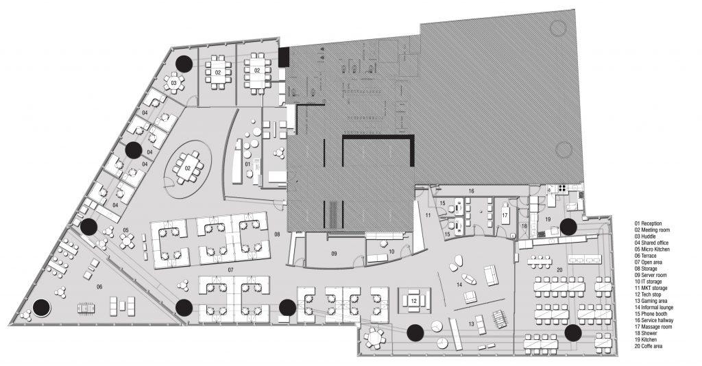 Google mexico data photos plans wikiarquitectura for Oficinas planta arquitectonica